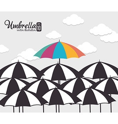 Umbrella design vector
