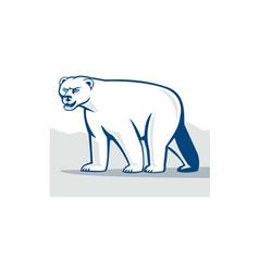 Polar bear isolated cartoon vector