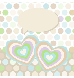 Polka dot background pattern heart on dot vector