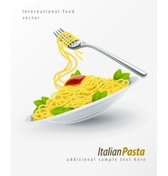 Italian pasta spaghetti vector