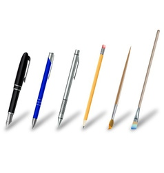 Writing and drawing equipment vector