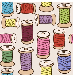 Colored threads seamless pattern vector