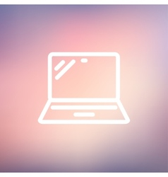 Laptop thin line icon vector
