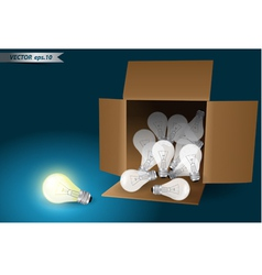 Idea concept bulb in box vector