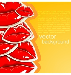 Background with lips vector