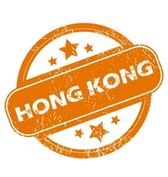 Hong kong grunge icon vector