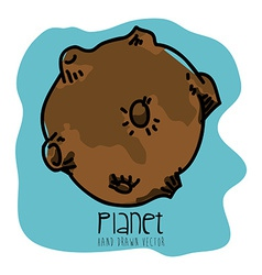 Planet drawn vector