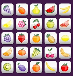 Buttons set with fruits for your design vector