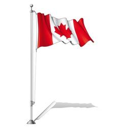 Flag pole canada vector