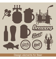 Design of beer vector