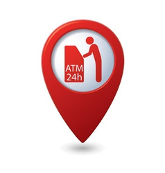 Atm icon red pointer vector