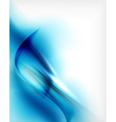 Blue aqua wave designed business poster vector