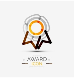 Award icon logo vector