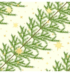 Seamless pattern with fir branches vector