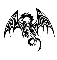 Black dragon vector