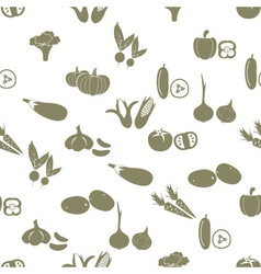 Simple vegetables icons seamless white pattern vector