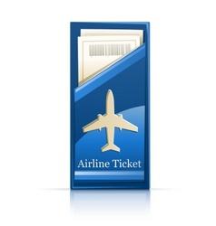Airline ticket vector