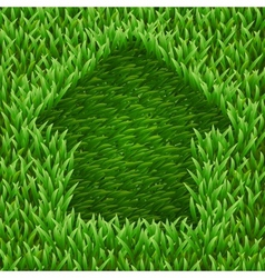 Home on green grass vector