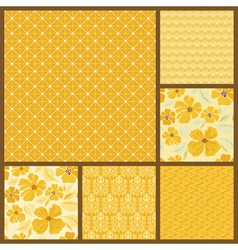 Gold patterns vector