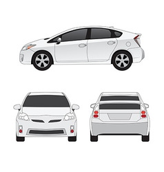 Medium size city car vector