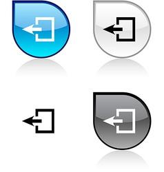 Exit button vector