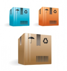 Delivery boxes vector