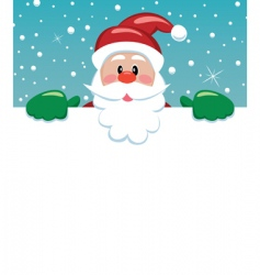 Santa with blank paper vector
