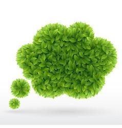 Foliage bubble vector