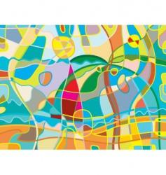 Abstract beach vector