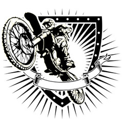 Motorcross shield vector