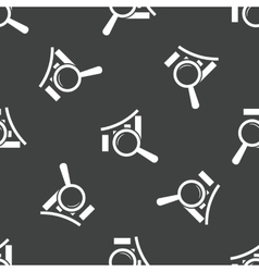 Graph under loupe pattern vector