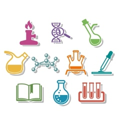 Science and chemistry icon set vector