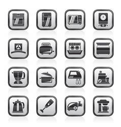 Kitchen appliances and equipment icons vector