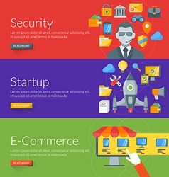 Flat design concept for security startup and vector