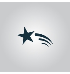 Shooting star icon vector