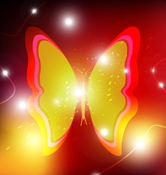 Butterfly background design vector