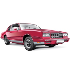 Vintage american coupe vector