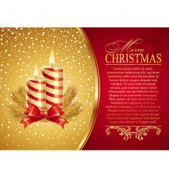 Christmas illustration with holidays candles vector