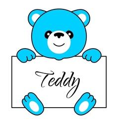 Cartoon bear boy vector