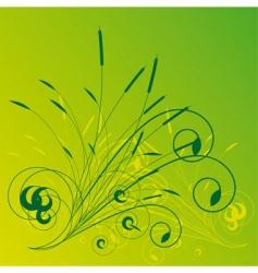 Vegetation background vector