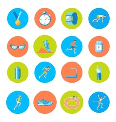 Running icons round vector