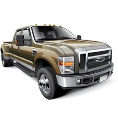 American full size pickup truck vector