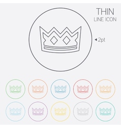 Crown sign icon king hat symbol vector