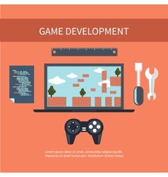 Game development concept vector