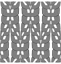 Design seamless monochrome wave striped pattern vector