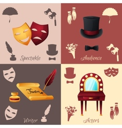 Theater concept set vector