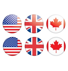 Badges with flags vector