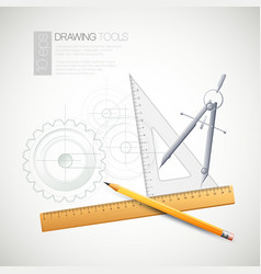 With drawing tools vector
