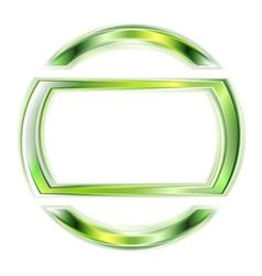 Glowing green shape vector