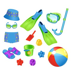Beach accessories vector